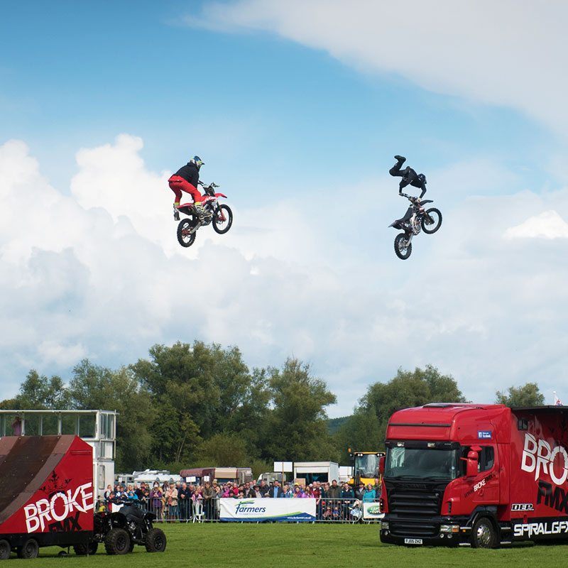 Usk Show Attractions Stunt Bikes